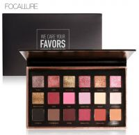 Focallure Metallic Day to Night 18-Color Eyeshadow Palette Bright Lux