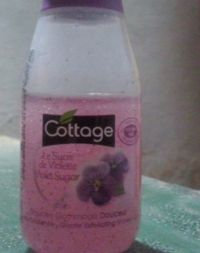Cottage gentle exfoliating shower gel 50ml violet sugar