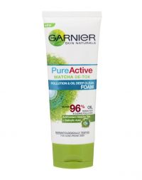 Garnier Pure Active Matcha De-Tox Pollution & Oil Deep Clean Foam