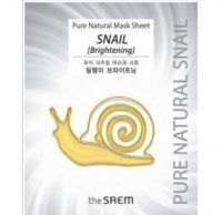 the SAEM Pure Natural Mask Sheet Snail (Brightening)