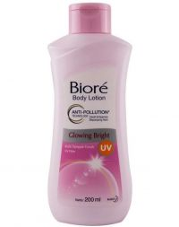 Biore Body Lotion Anti-Pollution Glowing Bright
