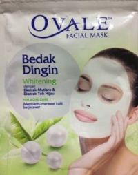 Ovale Facial Mask Bedak Dingin Green Tea