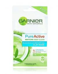 Garnier Pure Active Matcha Deep Clean Blackhead and Pore Purifying Clay Mask
