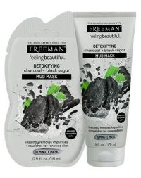 FREEMAN Detoxifying Charcoal + Black Sugar Mud Mask