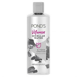 Pond's Pond's Vitamin Micellar Water (Makeup Remover) D-TOXX Charcoal