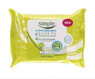 Simple Spotless Skin Quick Fix Cleansing Wipes