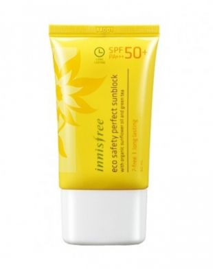 Innisfree Eco Safety Perfect Sunblock with sunflower oil and greentea