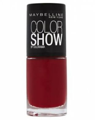 Maybelline Color Show Nail Polish Downtown Red 216