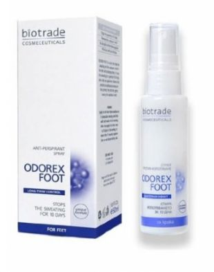 Biotrade Cosmeceuticals ODOREX FOOT SPRAY ANTIPERSPIRANT ON THE FEET
