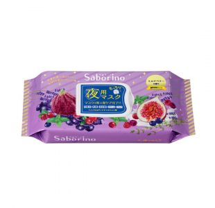 BCL Saborino Moisturising Night Face Mask Milk Berry