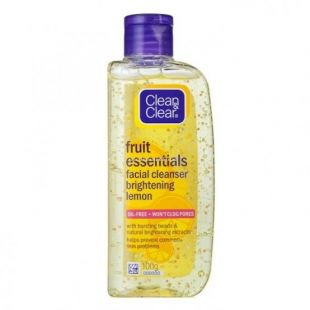 Clean And Clear Fruit Essentials Facial Cleanser Brightening Lemon