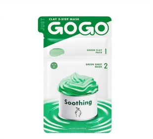 Korea Glow Just go go clay mask 2 step mask soothing