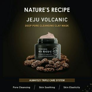 Nature Republic Always 21 Nature's Recipe Jeju Volcanic Deep Pore Cleansing Clay Mask