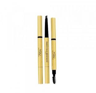 Y.O.U Makeups Perfect Dual Brow Matic Dark Brown