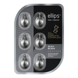 Ellips Hair Vitamin with Pre-Keratin Complex Silky Black