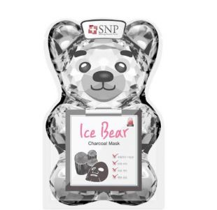 SNP Ice Bear Charcoal Mask Pore Care
