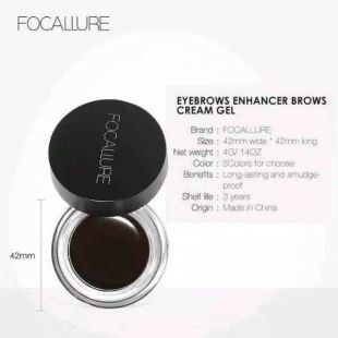 Focallure Focallure Eyebrow Pomade Gel Ash Brown