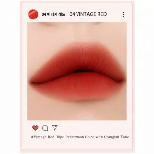EGLIPS Velvet Fit Tint Vintage Filter No. 4 Vintage Red