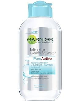 Garnier Micellar Cleansing Water All-in-1 Makeup Remover & Cleanser For Oily, Acne-Prone Skin