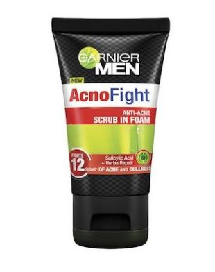 Garnier Men Acno Fight Anti Acne Scrub In Foam