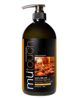 MU Touch Shower Scrub Goat's Milk Argan Oil and Walnut