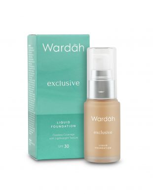 Wardah Exclusive Liquid Foundation Light Beige