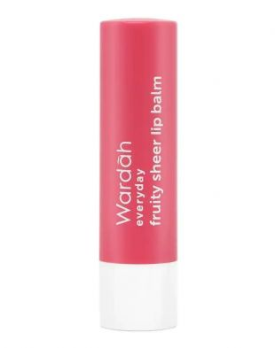Wardah Everyday Fruity Sheer Lip Balm Strawberry